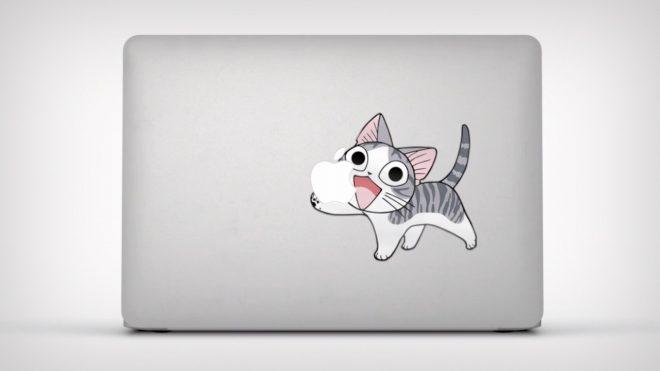Les stickers de décoration des MacBook Air promus par Apple