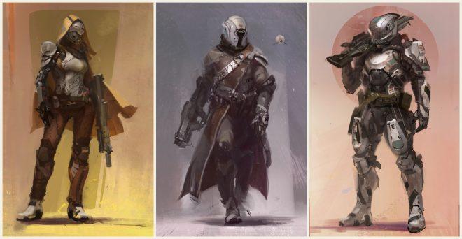 Chasseur, Arcaniste et Titan : magnifique concept art