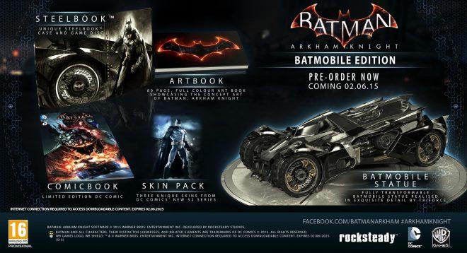 La Batmobile Edition, 200 euros pour un petit bijou... sinon on peut aussi se contenter du jeu !