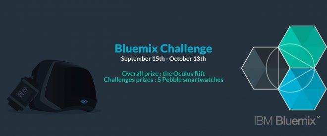 CoderPower lance un nouveau challenge avec IBM Bluemix. Jusqu'au 14 Octobre, les développeurs de tous les pays européens sont invités à participer au Bluemix Challenge sur la plateforme CoderPower. Le principe est très simple : inscrire le maximum de points à chaque challenge de code proposé sur CoderPower afin d'essayer de remporter l'Oculus Rift mis […]