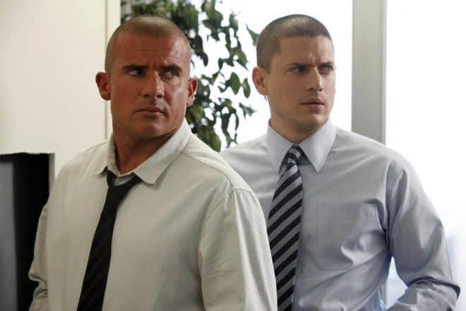 Dominic Purcell et Wentworth Miller dans Prison Break
