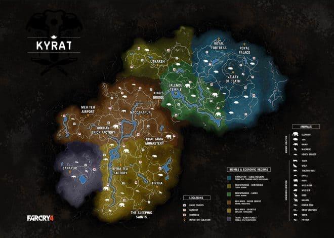 La carte de Far Cry 4 à été dévoilé sur la toile.
