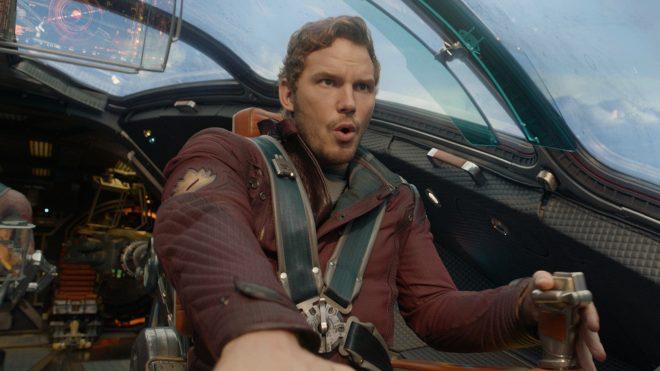 Chris Pratt dans le film Les Gardiens de la galaxie