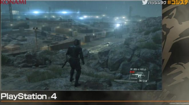 Metal Gear Solid V : Ground Zero lumière PS4