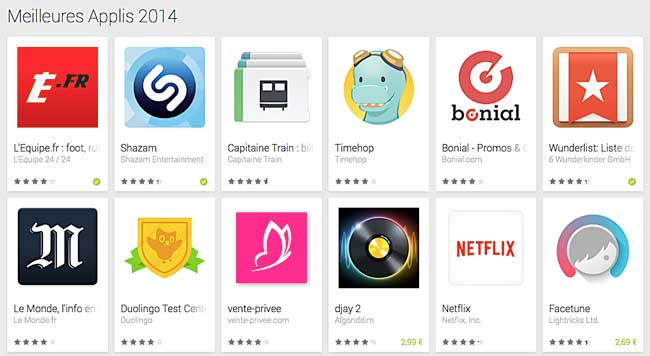 Le Play Store d'Android
