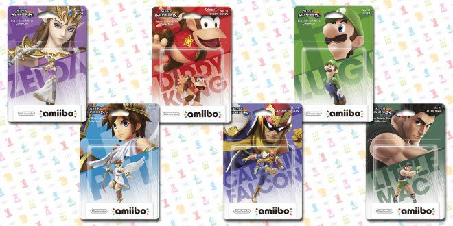 Les 6 personnages de la deuxième salve d'Amiibo