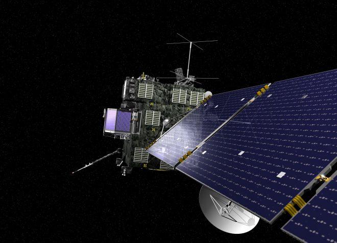 Représentation artistique de la sonde Rosetta
