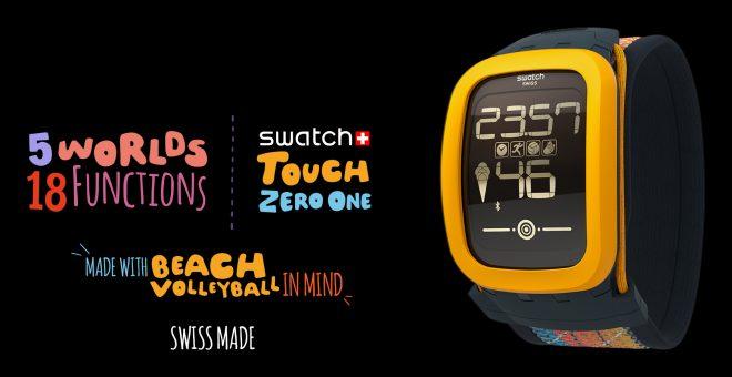La montre connectée de Swatch : la Swatch Touch Zero One.