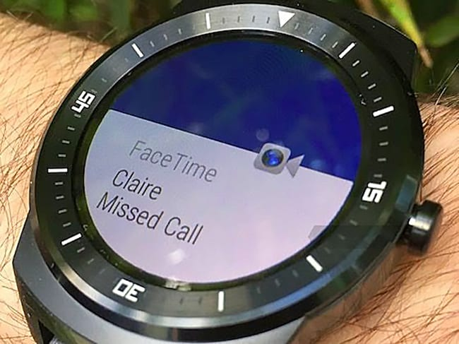Notification Facetime sur Android Wear