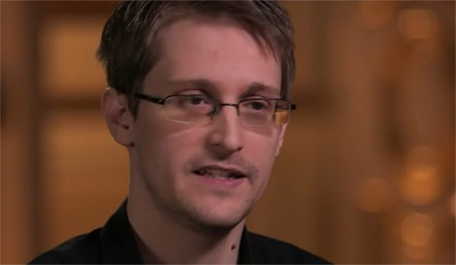 Capture d'écran de l'interview donné par Edward Snowden à la chaîne HBO