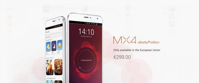 Le Meizu MX4 sous Ubuntu enfin disponible
