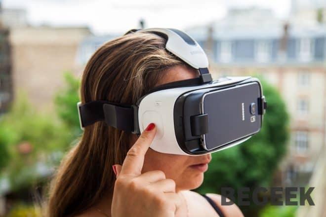 Pavé tactile du Samsung Gear VR