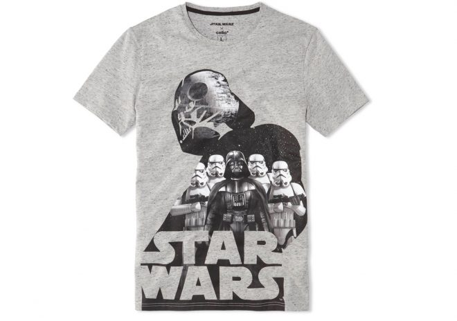 Star Wars x Celio : T-shirt adulte, 19,99€.