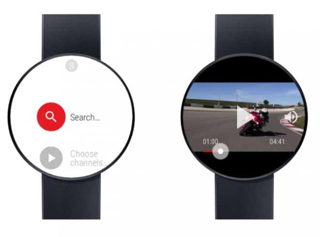 L'application Video for Android Wear&YouTube