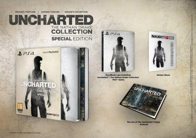 La version collector steelbook d'Uncharted The Nathan Collection