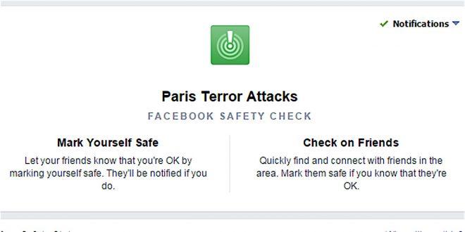 Facebook lance le contrôle d'absence de danger dans le cadre des attentats du 13 novembre