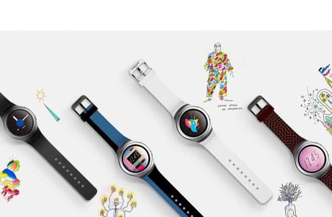 La Samsung Gear S2 dans diverses déclinaisons de couleur.
