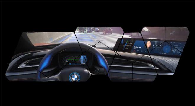 Le système AirTouch 3D de BMW - capture d'écran d'une vidéo publiée sur le compte Facebook de BMW