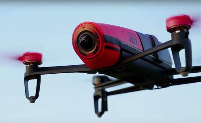 Un drone Bebop de Parrot - capture d'écran d'une vidéo YouTube du compte Parrot