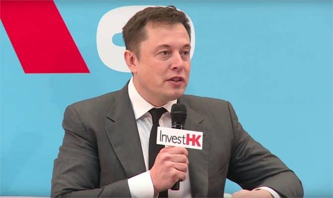 Elon Musk au festival StartmeupHK - capture d'écran YouTube