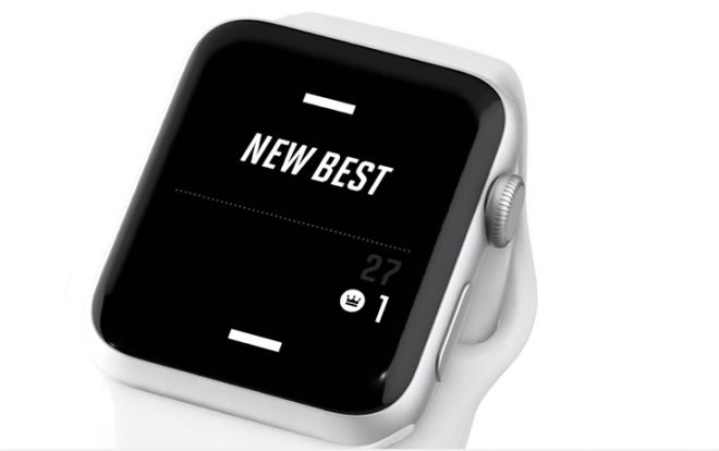 A tiny game of Pong sur l'Apple Watch.
