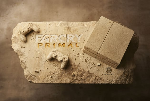Une version en pierre sculpté de la PS4 pour Far Cry Primal