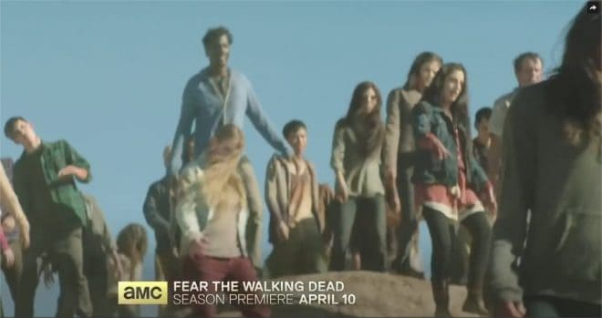 Saison 2 de Fear the Walking Dead - capture d'écran du teaser