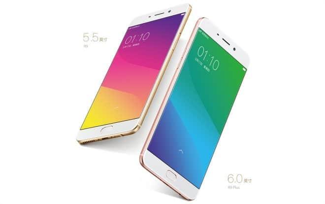 Les smartphones Oppo R9 et R9 Plus - capture d'écran du site web du fabricant