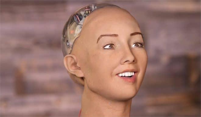 Sophia, le robot Humanoïde - capture d'écran YouTube