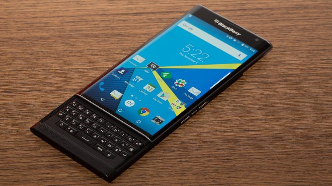 Le BlackBerry PRIV - capture d'écran YouTube