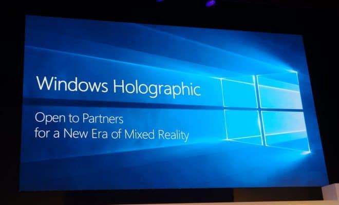 Microsoft veut imposer Holographic à tous