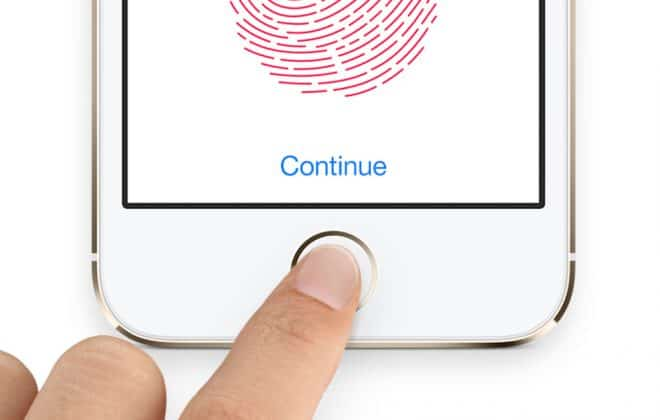 La technologie Touch ID d'Apple.