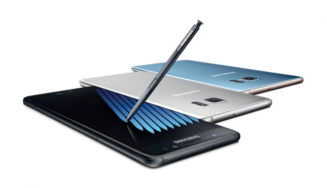 Le Samsung Galaxy Note 7.