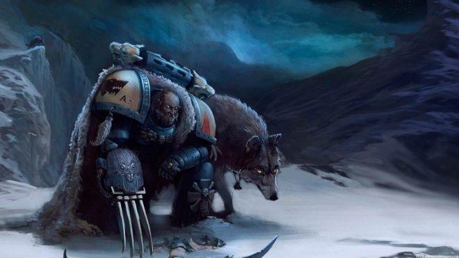 Un Space Wolves de Warhammer 40k