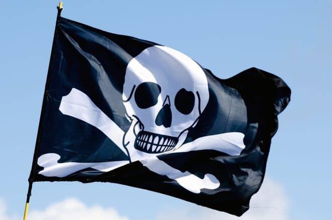 Un drapeau pirate - Image d'illustration.