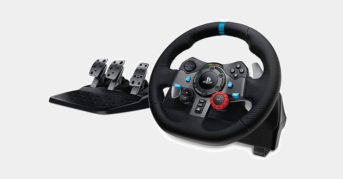 Logitech G920 Driving Force : volant + pédales pour PC et consoles à -50%