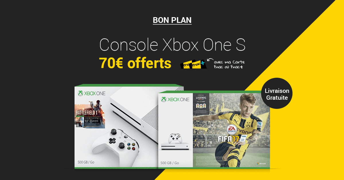 xbox one 70 rembours s en carte cadeau aux adh rents fnac. Black Bedroom Furniture Sets. Home Design Ideas