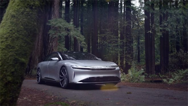 La voiture électrique Lucid Air.