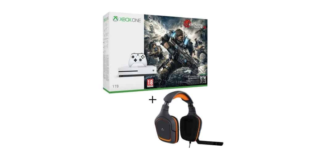 xbox one s 1 to gears of war 4 micro casque logitech pour 299. Black Bedroom Furniture Sets. Home Design Ideas