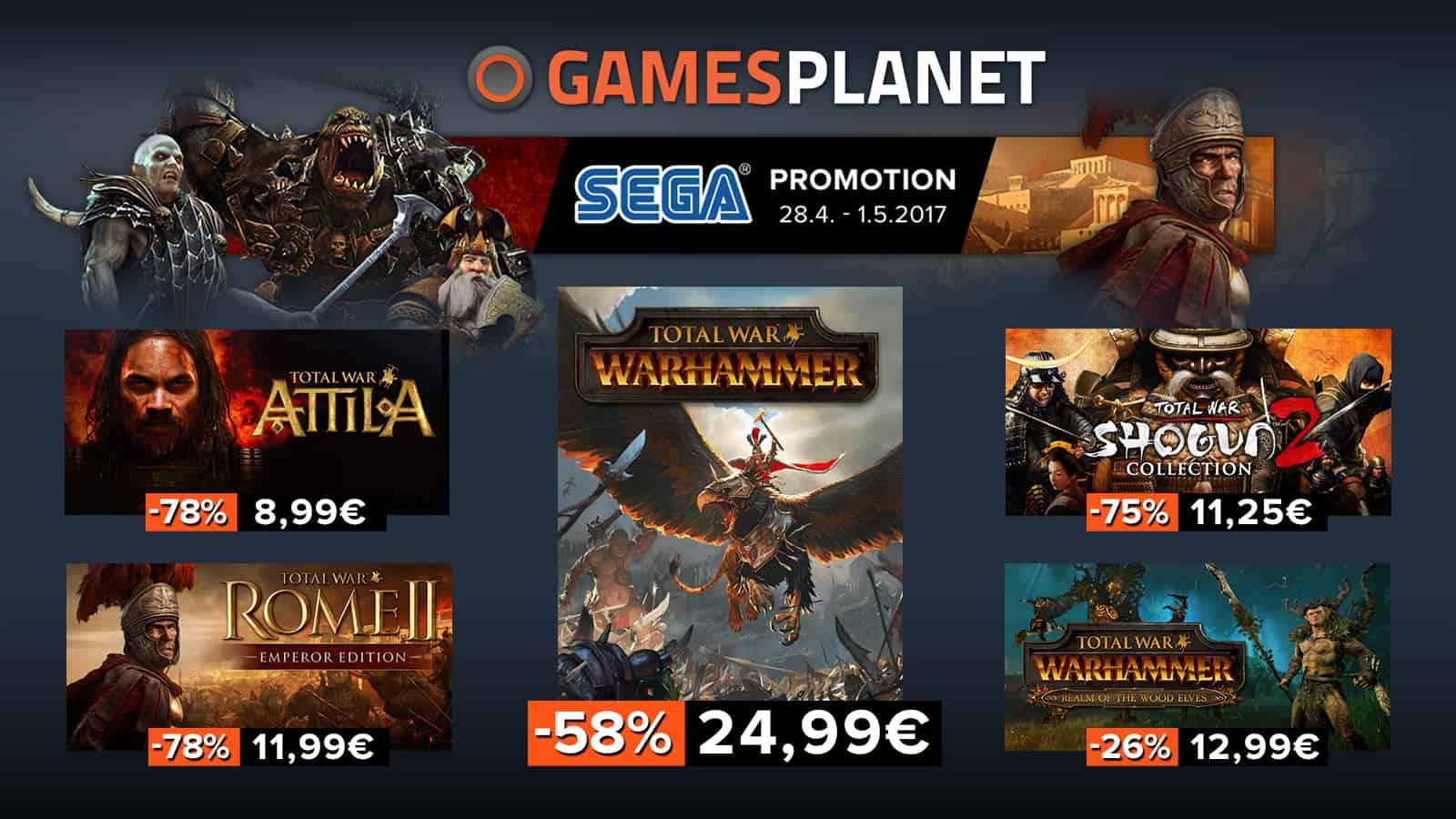 Total War: weekend de promos sur toute la licence sur Gamesplanet