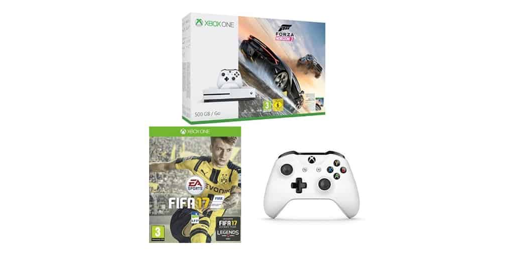 xbox one s 500 go forza horizon 3 fifa 17 2 me. Black Bedroom Furniture Sets. Home Design Ideas