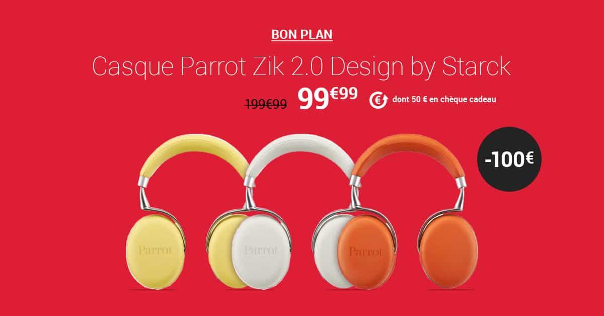 parrot zik 2 0 99 chez fnac meilleur prix du web. Black Bedroom Furniture Sets. Home Design Ideas
