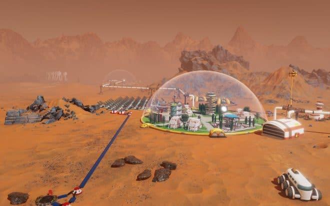 Représentation théorique de la conquête de Mars