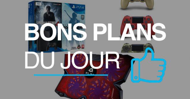 Les meilleures offres Alors que Microsoft s'appelle à révéler la Xbox Scorpio lors de l'E3,les e-commerçants n'oublient pas pour autant la concurrence. Fnac propose ainsi une réduction de 50€, valable aujourd'hui uniquement, sur les packs PS4 500 Go et sur la PS4 Pro 1 To nue.En supplément, une manette est offerte parmi 6 coloris : […]