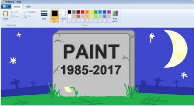 Capture d'écran d'un dessin réalisé par le média BBC Three rendant hommage à Paint.