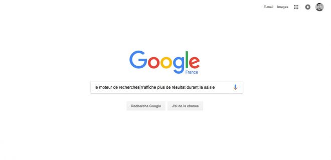 Adieu Instant Search