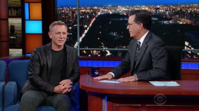 Daniel Craig chez Stephen Colbert
