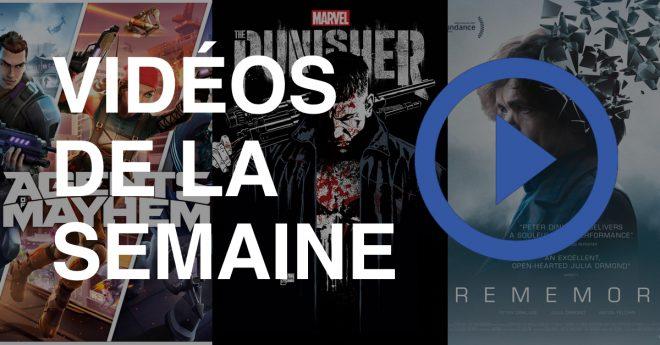 The Punisher — Trailer Encore quelques mois à patienter pour la série The Punisher sur Netflix, qui montre aujourd'hui sa première vidéo. Rememory – Trailer Une enquête à base de souvenirs extraits et rejoués par Peter Dinklage : bienvenue dans le film Rememory. Agents of Mayhem —Trailer de lancement Considéré par Deep Silver Volition comme […]