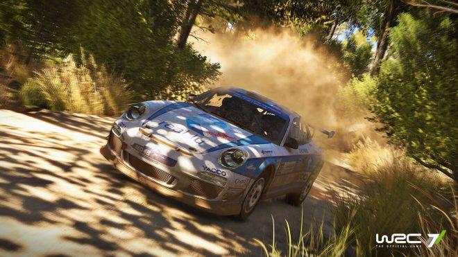 """WRC 7 s""""offre la Porsche 911 GT3 RS RGT en bonus de précommande."""
