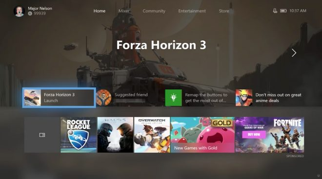 La nouvelle interface de la Xbox One